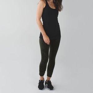 Rare ! Lululemon Ebb To Street Pant Gator Green leggings Size 8